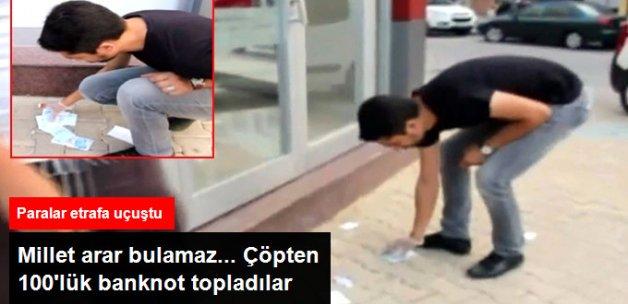 Sakarya'da ATM Çöpünden 100 TL'lik Banknotlar Çıktı