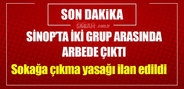 Sinop'ta taşlı sopalı kavga çıktı