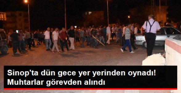 Sinop'ta Taşlı Sopalı Kavgada 15 Kişi Yaralandı! Muhtarlar Görevden Alındı
