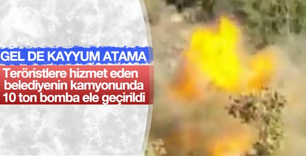 Şırnak'ta 10 ton bomba yüklü kamyon imha edildi