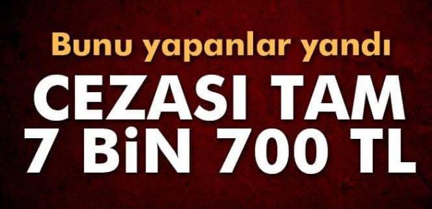 Sokakta kıyma çekmenin cezası 7 bin 700 TL