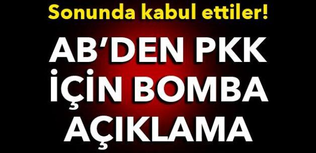 Sonunda kabul ettiler! AB'den PKK için bomba açıklama