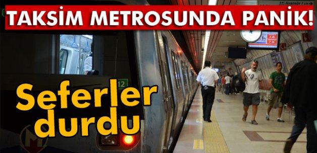 Taksim Metro istasyonunda panik! Seferler durdu