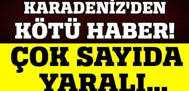 Trabzon'da bayram dönüşü kaza: 12 yaralı