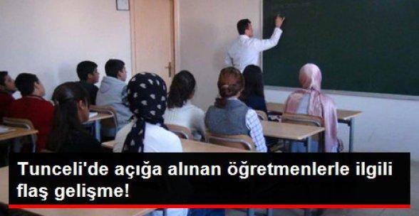 Tunceli'de Terör Soruşturmasından Açığa Alınan Öğretmen ve Memurlara Göreve İade