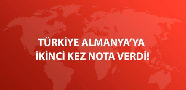 Türkiye Almanya'ya İkinci Kez Nota Verdi