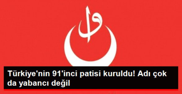 Türkiye'nin 91'inci Partisi Osmanlı Partisi Kuruldu