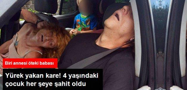 Uyuşturucu Kullanan Çift, Trafikte Çocuklarının Önünde Fenalaştı