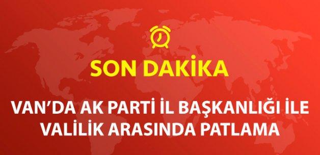 Van'da, AK Parti İl Başkanlığı ile Valilik Arasındaki Alanda Patlama!