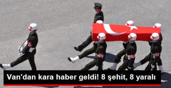 Van'da Şehit Olan Asker Sayısı 8'e Yükseldi