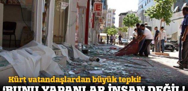 Van'da vatandaşlar terör saldırısına tepki gösterdi
