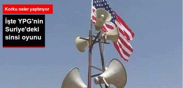 YPG Militanları ABD Bayrağını Kalkan Olarak Kullanıyor