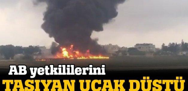AB yetkililerini taşıyan uçak düştü!