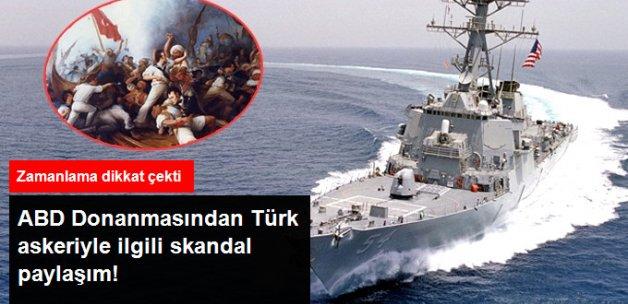 ABD Donanması, Türk Bayrağıyla Savaşan Askerlerin Öldürüldüğü Tabloyu Paylaştı