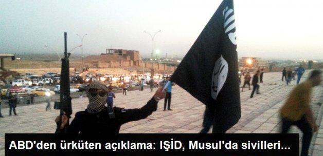 ABD: IŞİD, Musul'da Sivilleri Canlı Kalkan Olarak Kullanıyor