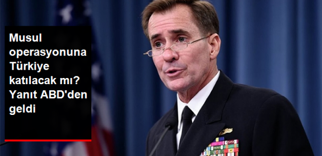 ABD: Musul Operasyonuna Kimin Katılacağına Irak Karar Verecek