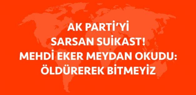 AK Parti Dicle İlçe Başkanı Öldürüldü! Mehdi Eker'den Çok Sert Tepki