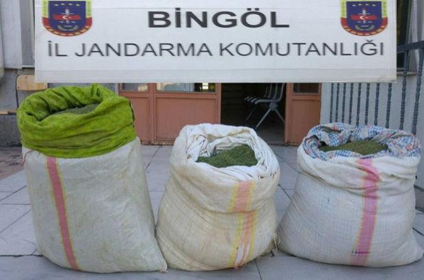 Bingöl'de 52 kilo 780 gram esrar ele geçirildi