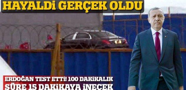Cumhurbaşkanı Erdoğan, Avrasya Tüneli'nde test sürüşü yaptı