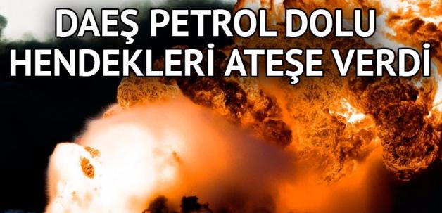 DAEŞ hendeklerdeki petrolü yaktı; Musul'a Peşmerge sevkiyatı sürüyor