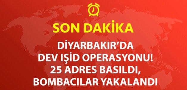 Diyarbakır'da 25 Adrese IŞİD Operasyonu: 20 Gözaltı