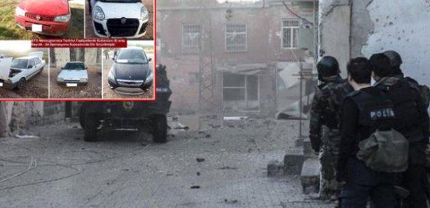 Diyarbakır'da bombalı saldırıda kullanılacak 5 araç ele geçirildi