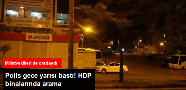 Diyarbakır Polisi, HDP ve DBP Binalarında Arama Yaptı