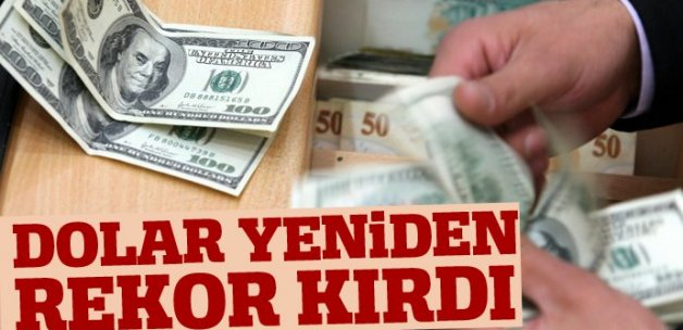 Dolar 3.1140 lira ile yeni tarihi zirveye tırmandı