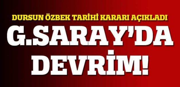 Dursun Özbek tarihi kararı açıkladı