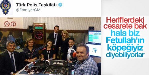 Emniyet'in Twitter hesabından FETÖ mesajı verdiler