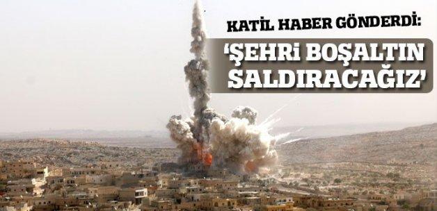 Esad'dan halka çağrı: Halep'i boşaltın