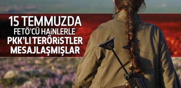 FETÖ'cü askerin PKK ile mesajlaştıkları ortaya çıktı!