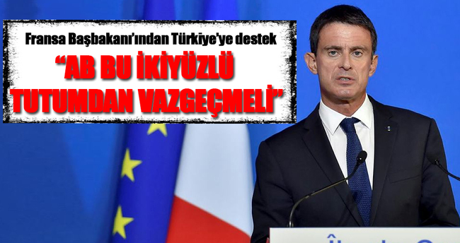 Fransız Başbakan'dan Türkiye'ye destek