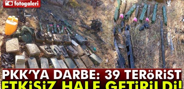 Hakkari'de 39 terörist etkisiz hale getirildi