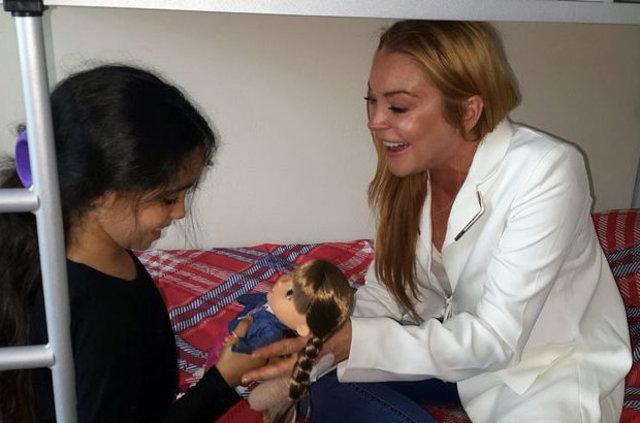 Hollywood yıldızı Lindsay Lohan yeniden Sultanbeyli'de