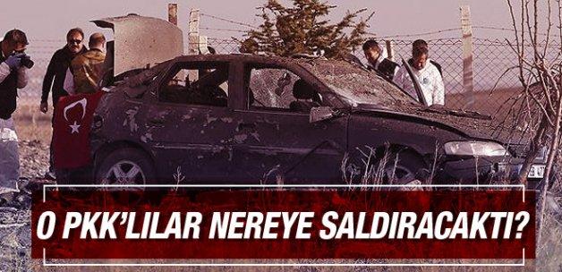 Kendini patlatan PKK'lılar nereye saldıracaktı?