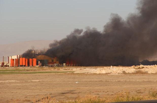 Konya'da yağ fabrikasında yangın çıktı