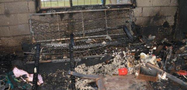 Mersin'de bir çocuk yangında hayatını kaybetti