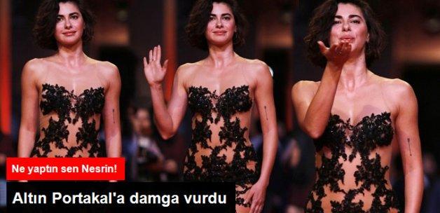 Nesrin Cavadzade'nin Kıyafeti Antalya Film Festivali'ne Damga Vurdu