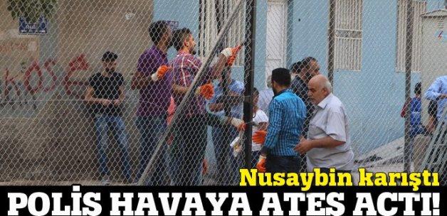 Nusaybin'de tel örgü gerginliği