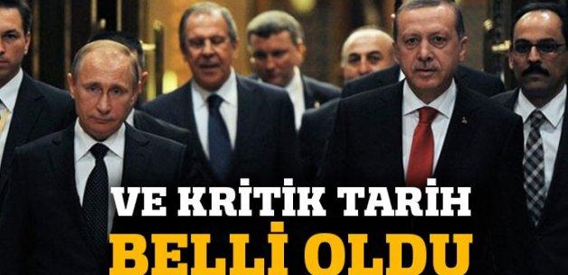 Putin'in Türkiye'ye geleceği tarih belli oldu