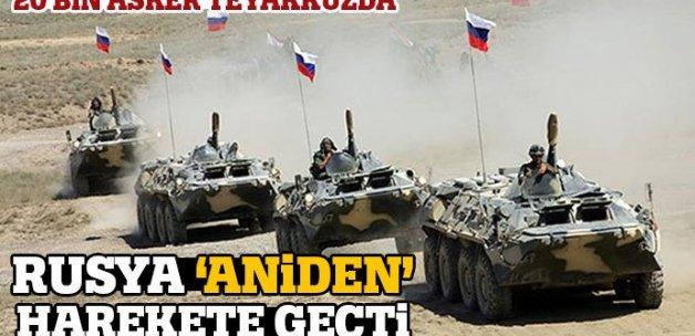 Rus ordusu 20 bin askerle 'ani' tatbikata başladı