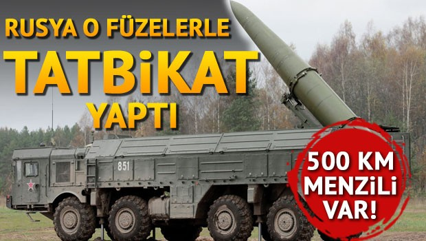 Rusya o füzelerle tatbikat yaptı