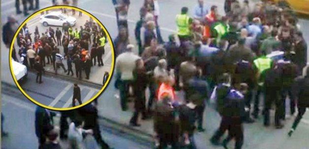 Sabiha Gökçen'de taksiciler otobüs şoförlerine saldırdı