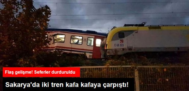 Sakarya'da İki Tren Çarpıştı: 3 Yaralı