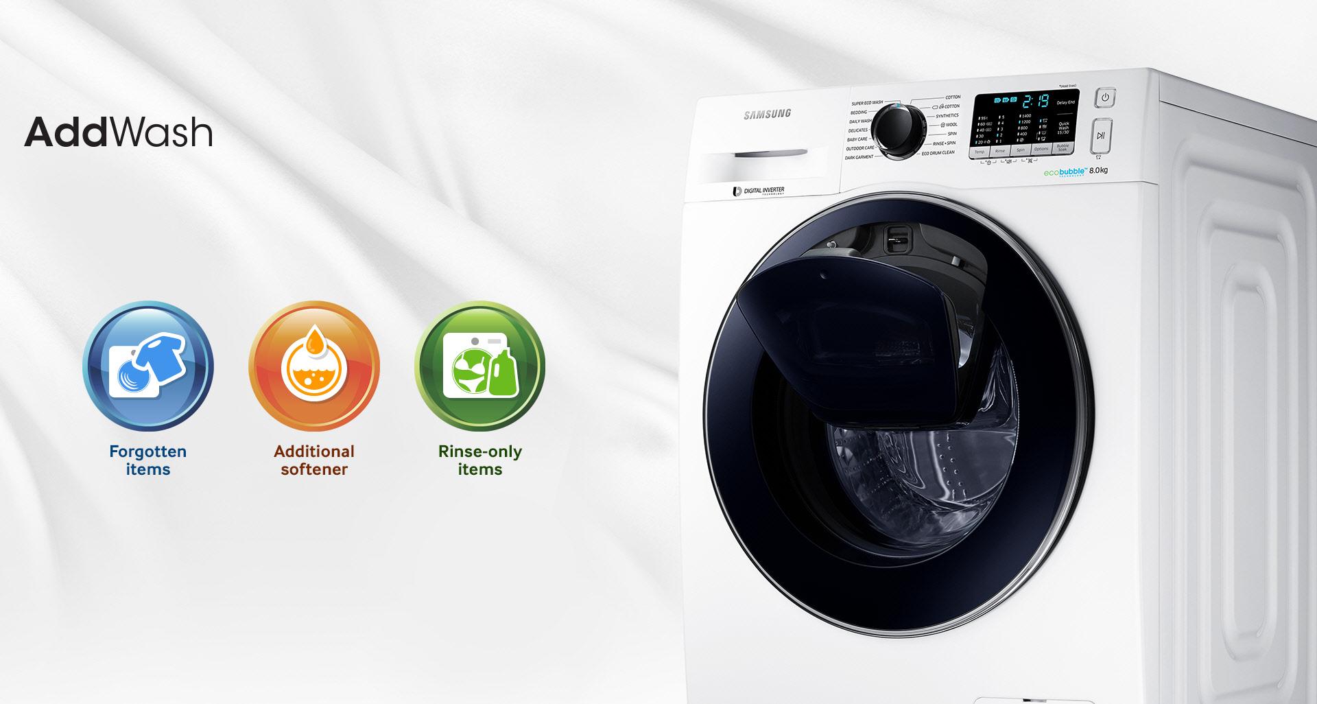 Samsung'tan Akıllı Çamaşır Makinesi: AddWash