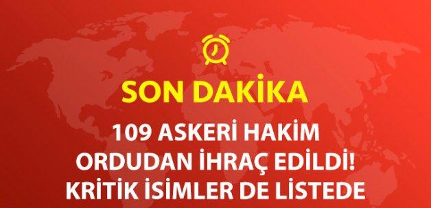 Son Dakika! 109 Askeri Hakimin TSK İle İlişiği Kesildi