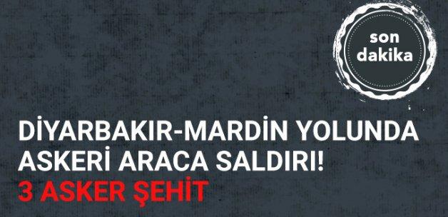 Son Dakika! Diyarbakır - Mardin Karayolu'nda Askeri Araca Bombalı Saldırı: 3 Şehit