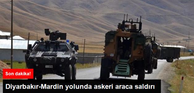 Son Dakika! Diyarbakır - Mardin Karayolu'nda Askeri Araca Saldırı