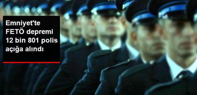 Son Dakika! FETÖ Soruşturmasında 12 Bin 801 Polis Açığa Alındı